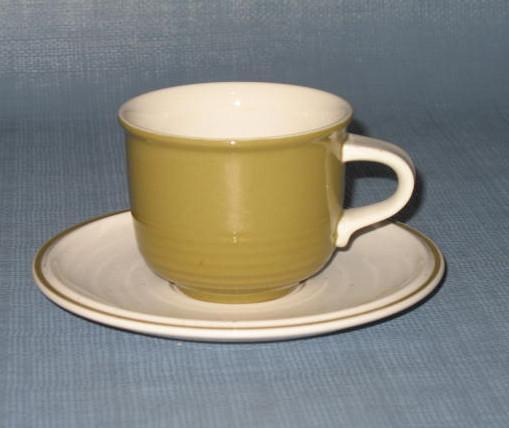 Mikasa Everfresh - Green C8450 cup and saucer