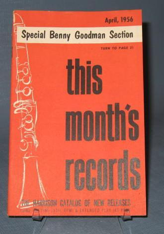 This Month's Records, April, 1956 from the Harrison Catalog of New Releases