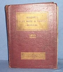MoToR's Flat Rate and Parts Manual, 1953 Edition