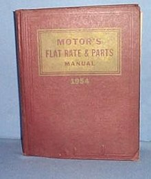 MoToR's Flat Rate and Parts Manual, 26th Edition, 1954