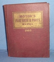 MoToR's Flat Rate and Parts Manual, 27th Edition, 1955