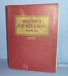 MoToR's Flat Rate and Parts Manual, 28th Edition, 1956