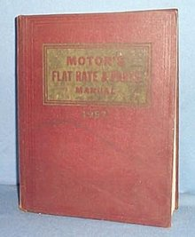 MoToR's Flat Rate and Parts Manual, 29th Edition, 1957