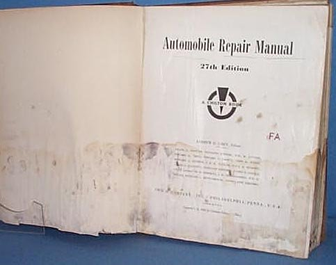 Chilton's Automobile Repair Manual, 1956