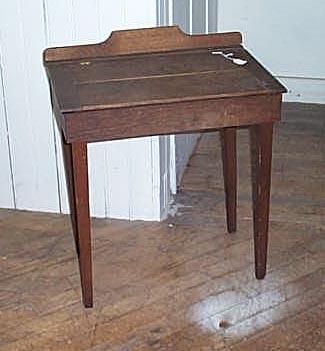 Child's mission oak slant-top desk