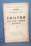 Chilton Flat Rate and Service Manual Supplement, 1941
