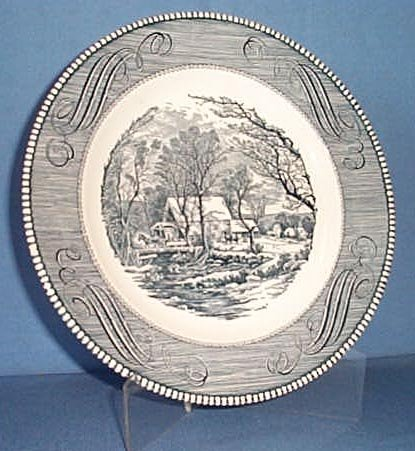 Royal China Cavalier blue  10 inch dinner plate