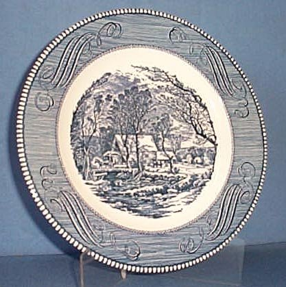 Royal China Currier and Ives blue