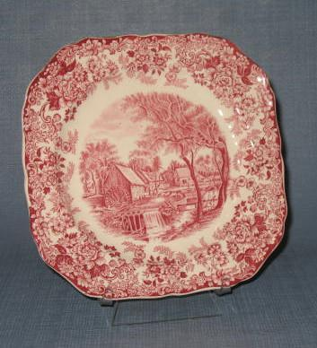Mill Stream square salad plate by Johnson Bros., England