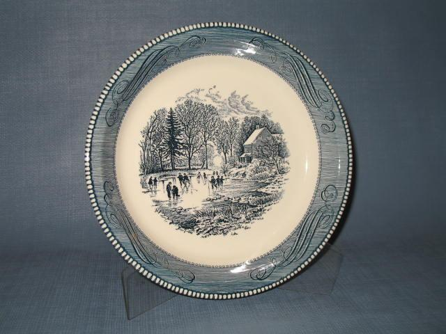 Royal China Currier and Ives 10 inch pie plate