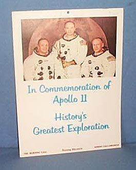 1970 Allentown (PA) Morning Call Apollo 11 Commemorative calendar
