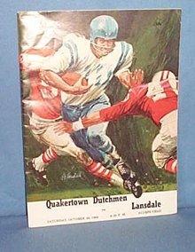 1968 Quakertown (PA) Dutchmen  vs. Lansdale football program