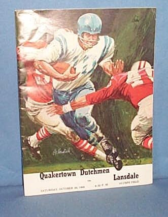 1968 Quakertown (PA) Dutchmen  vs. Lansdale football program