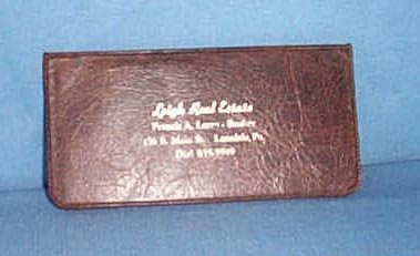 Leigh Real Estate, Lansdale, PA memo book