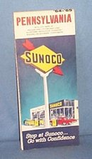 Sunoco 1964-65 Pennsylvania road map