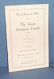 Quakertown (PA) High School Class of 1951 play program