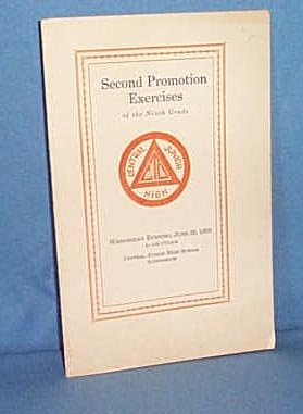 Second Promotion Exercises of the 9th Grade of Central Junior High, Allentown PA June 26, 1929