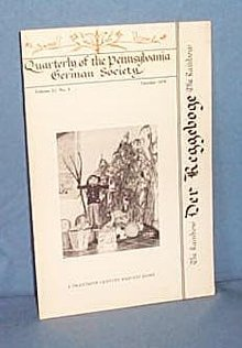 Quarterly of the Pennsylvania German Society, Volume 13, No. 4, October 1979