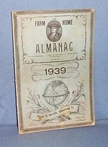 1939 Farm and Home Almanac, Charles M. Meredith, Quakertown PA