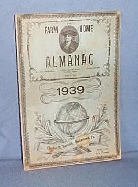 1939 Farm and Home Almanac, Charles M. Meredith, Quakertown PA