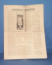 Central Booster (newspaper of Central Jr. High, Allentown PA) March, 1928