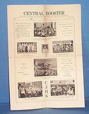 Central Booster (newspaper of Central Jr. High, Allentown PA) June, 1928
