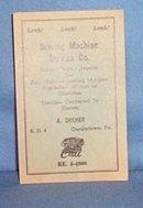 A. Dreher, Quakertown PA, Sewing Machine Service Co. ink blotter