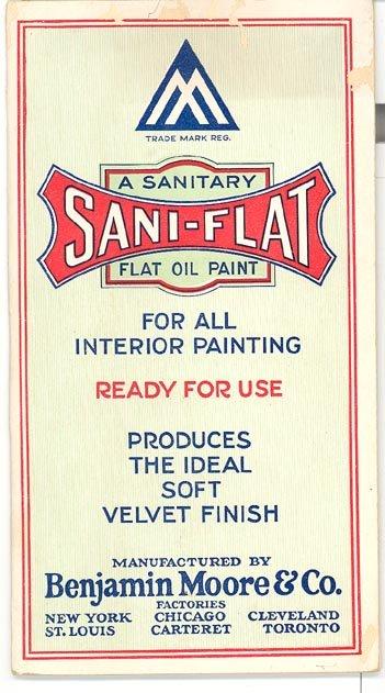 Benjamin Moore Sani-Flat flat oil paint brochure