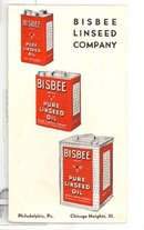 Bisbee Linseed Company advertising brochure