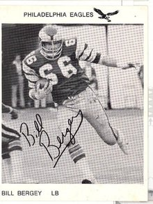 Philadelphia Eagles Bill Bergey photo postcard