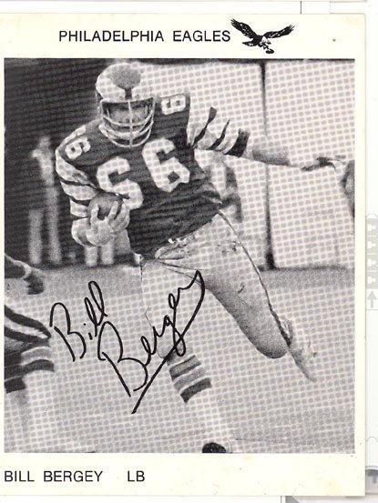 Philadelphia Eagles Bill Bergey photo postcard