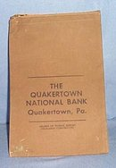 The Quakertown National Bank, Quakertown PA bank bag