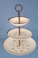 Royal China USA April Showers three tier tray