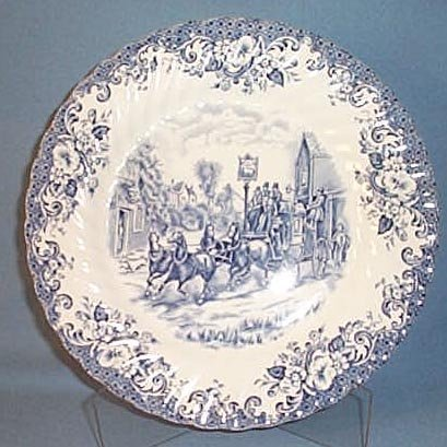 Johnson Brothers Coaching Scenes dinner plate