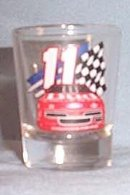 Budweiser number 11 Thunderbird shot glass