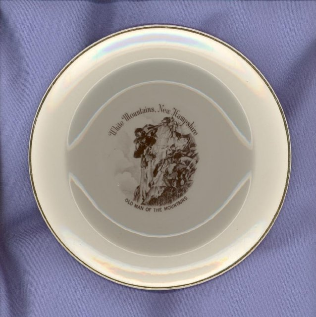 Old Man of the Mountains, White Mountains, New Hampshire souvenir plate