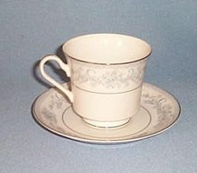 Mikasa Dresden Rose L9009 cup and saucer