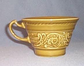 Canonsburg Pottery Regency Ironstone Avocado Green cup