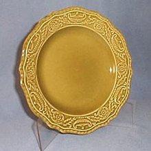 Canonsburg Pottery Regency Ironstone Avocado Green bread plate