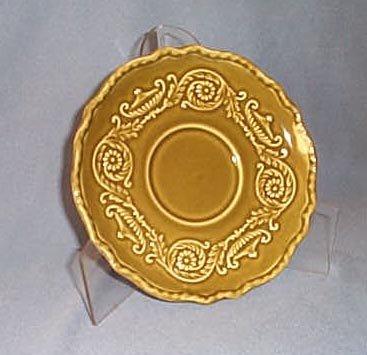 Canonsburg Pottery Regency Ironstone Avocado Green saucer