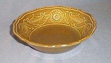 Canonsburg Pottery Regency Ironstone Avocado Green cereal bowl