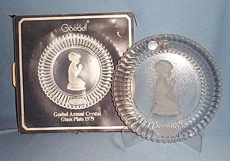 1979 Goebel Annual Crystal Glass Plate