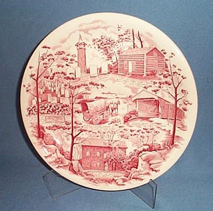 Pennsylvania German Folklore Society of Ontario souvenir plate by Johnson Bros.