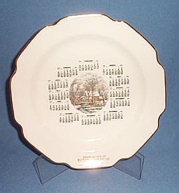1963 Walter's Auction Gallery, Macungie, PA calendar plate