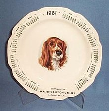 1967 Walter's Auction Gallery, Macungie, PA calendar plate