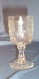 Iris and Herringbone wine goblet by Jeannette Glass