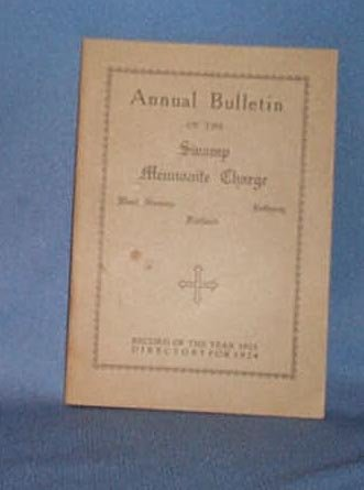1923 Church Bulletin of the Swamp Mennonite Charge, Quakertown PA
