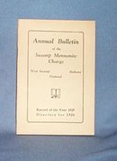 1925 Church Bulletin of the Swamp Mennonite Charge, Quakertown PA