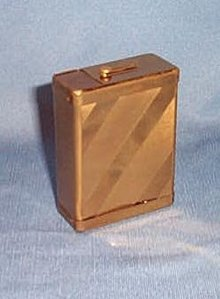 Rogers Slyde-Lok brass finish cigarette case
