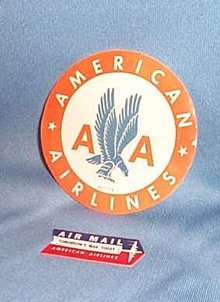 2 American Airlines labels
